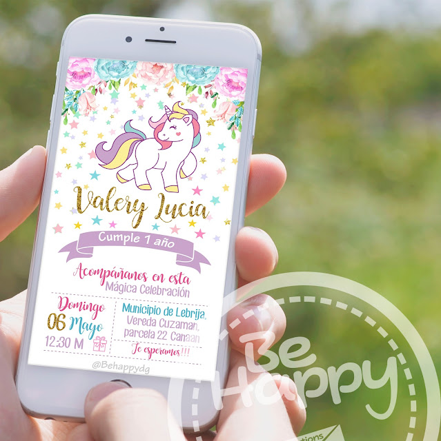 Be Happy Tarjeta De Invitación Digital