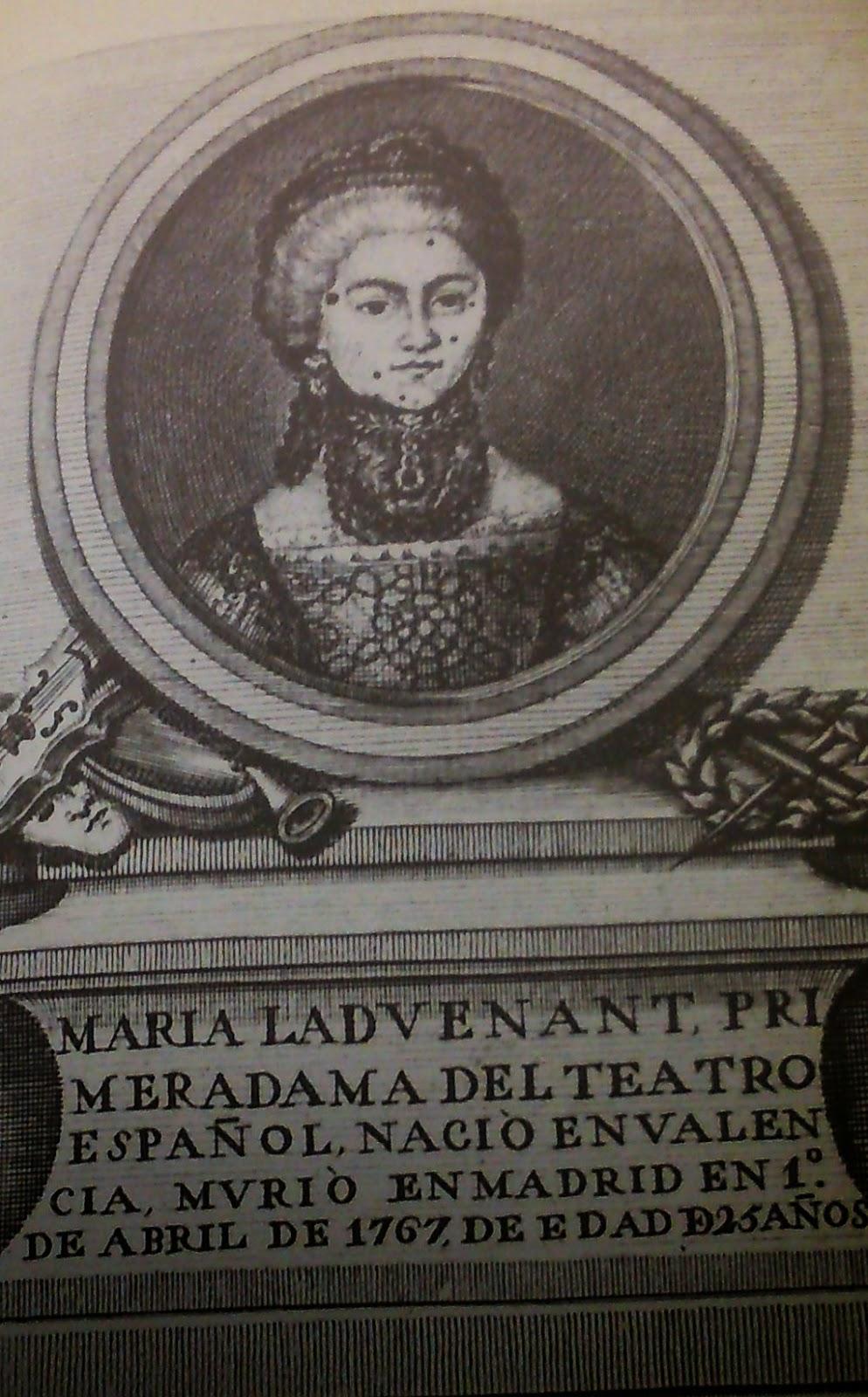 La actriz María Ladvenant y Quirante. Archivo Municipal de Madrid. S. XVIII