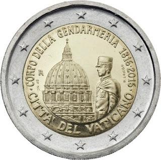 2€ commémorative Vatican 2016 Corps de la Gendarmerie du Vatican