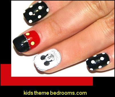 Mickey Mouse - Minnie Mouse Nail Decals - Cartoon Art Disney Decoration nail Stickers