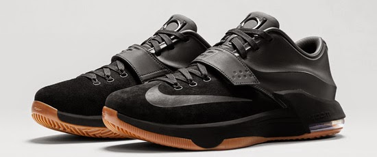 outlet store 61d96 2424b This Nike KD VII EXT Suede QS comes in a clean all black colorway. They  feature a black based suede and leather upper, finished off by a gum  outsole.