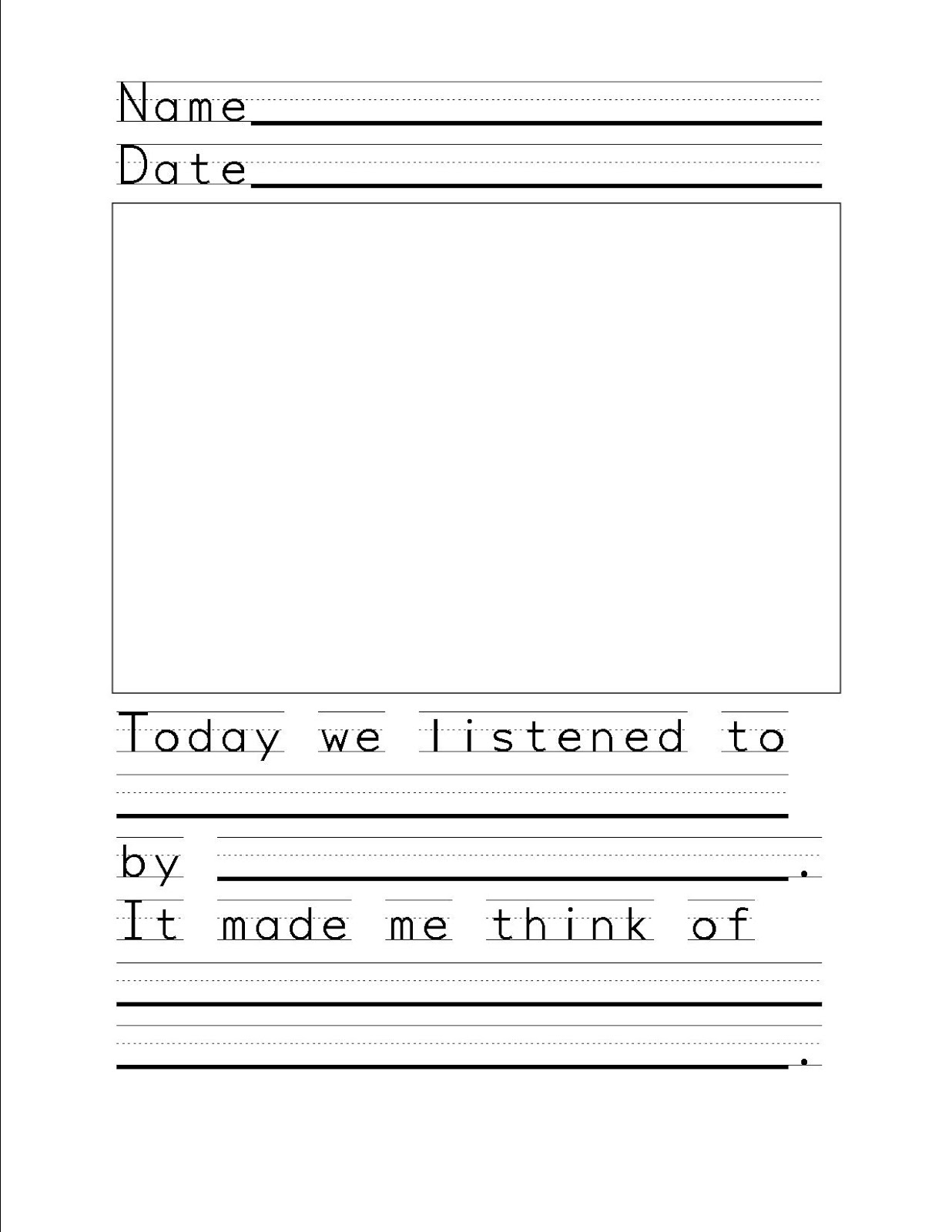 So La Mi Music Listening Response Sheet