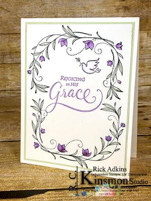 his grace cling mount stamp set, Rick Adkins, Stampin' Blends