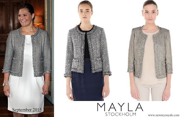 Crown Princess Victoria wore Mayla tweed jacket