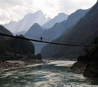 the nujiang river or Salween in China