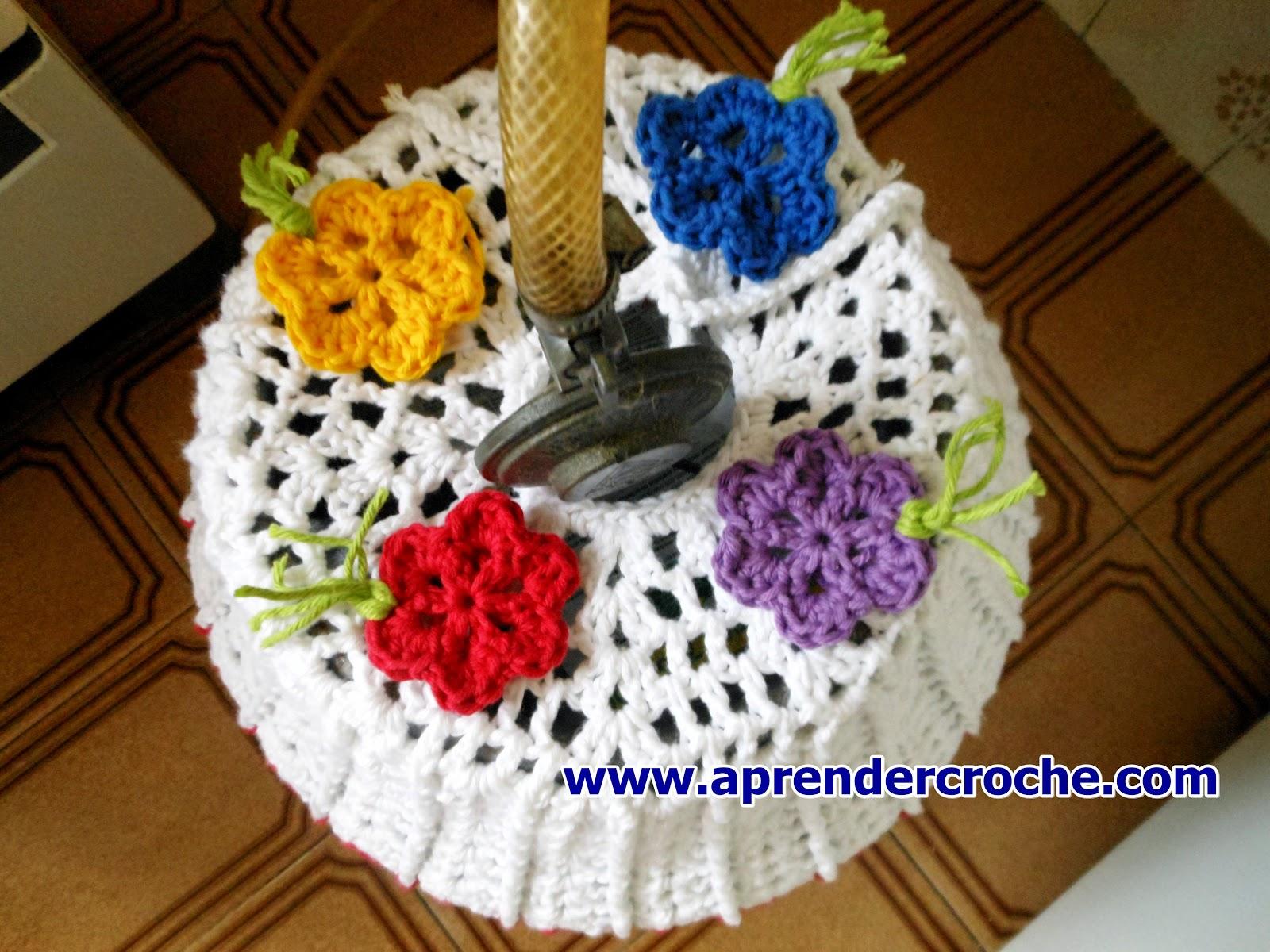 Como fazer essa linda capa de crochê para botijão de gás com edinir croche