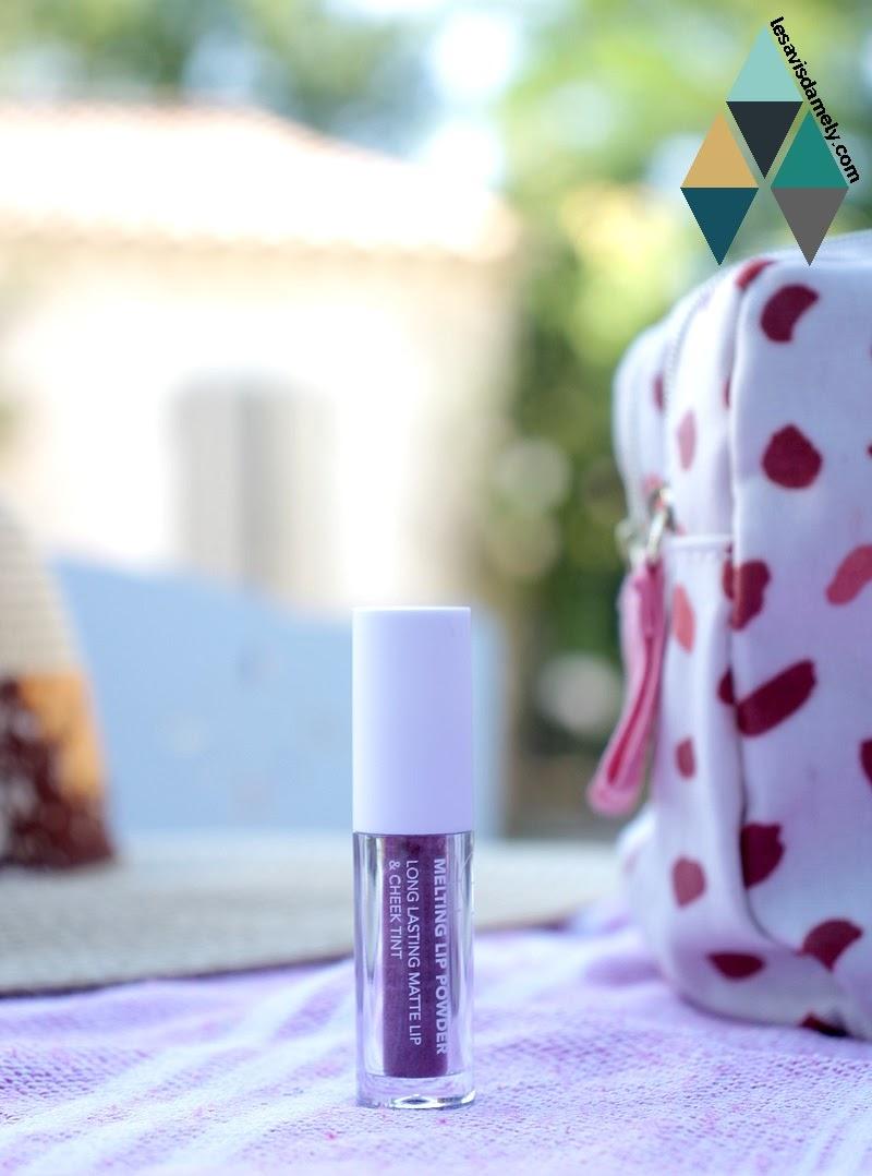 Poudre colorée Melting Lip Powder de CLE Cosmetics : revue beauté test