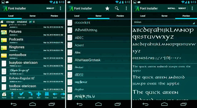 how To Change Your Android Front By Rooted Android