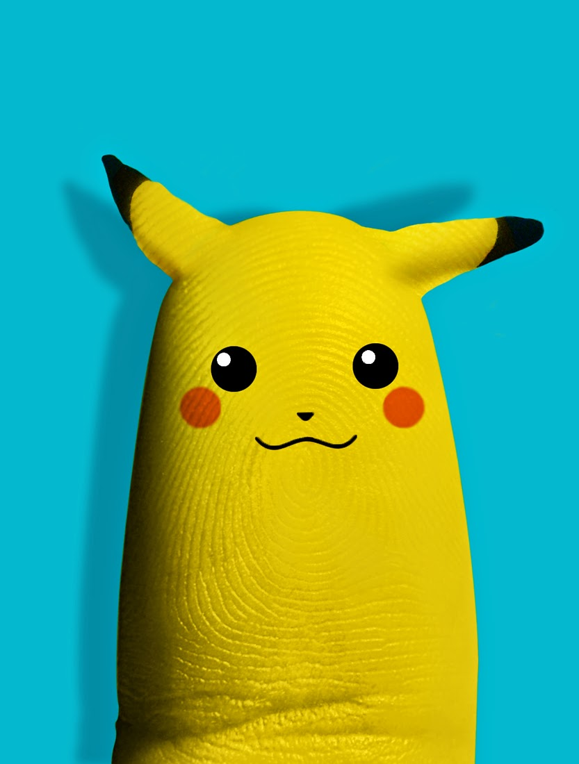 11-Pikachu-Dito-von-Tease-Portraits-on-a-Finger-www-designstack-co