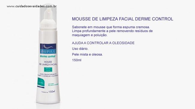 Mousse de Limpeza Facial Derme Control Nupill