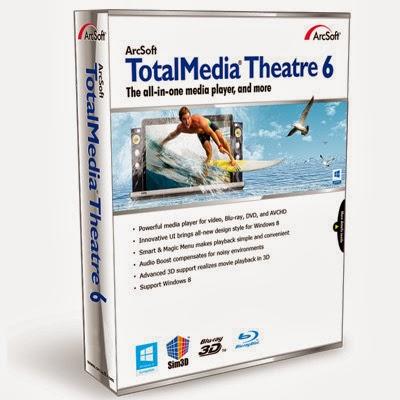 تحميل برنامج ArcSoft TotalMedia Theatre 6 مجانا لتشغيل الفيديو والصوتيات