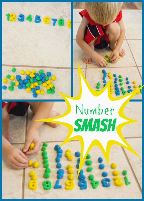 Playdough Number Smash: an Active Way to Practice Counting