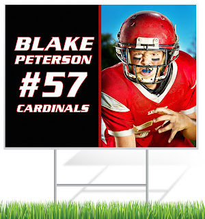Football Player Lawn Sign | Lawnsigns.com