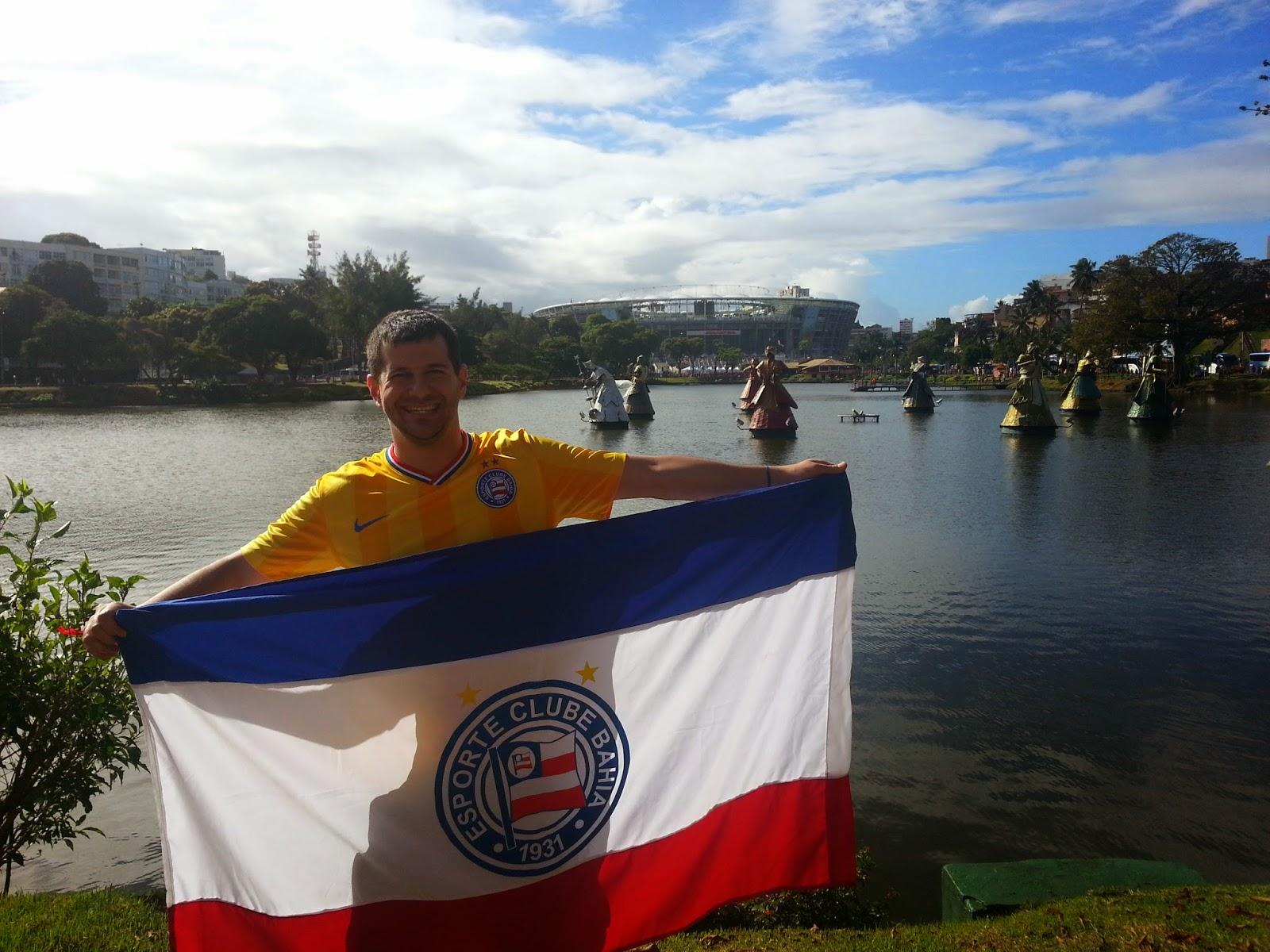 Fonte Nova, Dique do Tororó e Orixás - Antes do jogo Espanha X Holanda - Copa do Mundo Brasil 2014 - Salvador