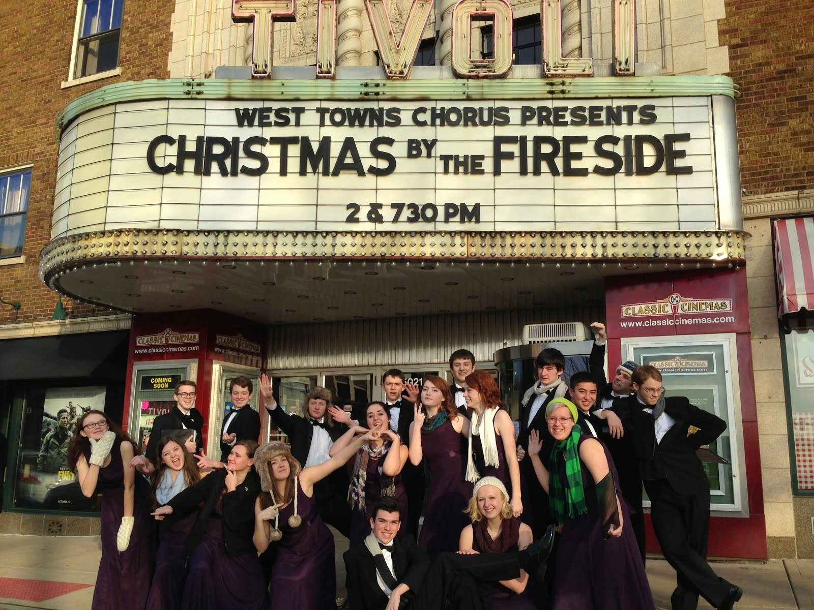 Tivoli Theater In Downers Grove Downers Grove North Fine Arts Chamber Choir At The Tivoli