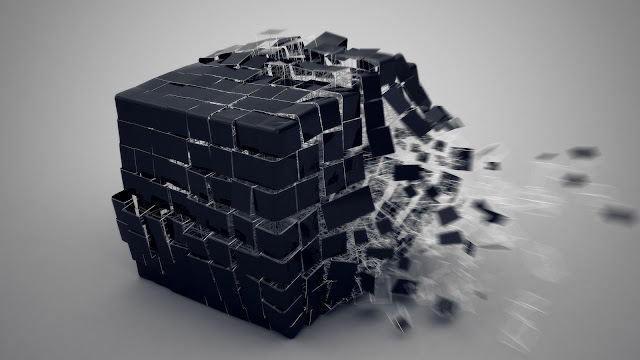 3D Wallpaper HD 1600x900 cubo nero