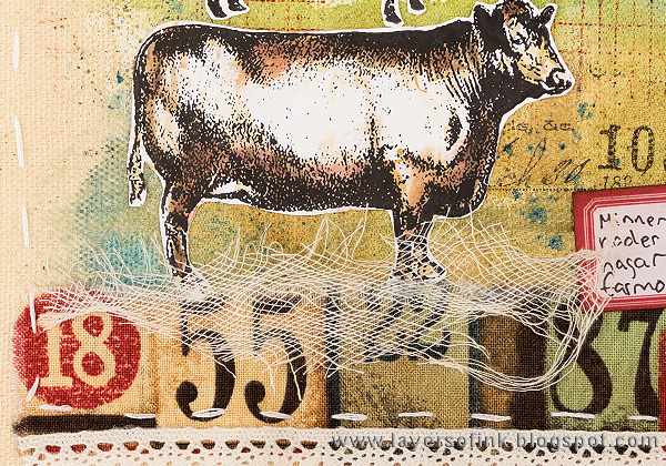 Layers of ink - Exploration Journal Page by Anna-Karin with Tim Holtz Critters stamps.