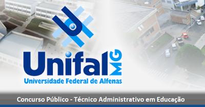 Unifal publica edital de Concurso Público em Alfenas - MG