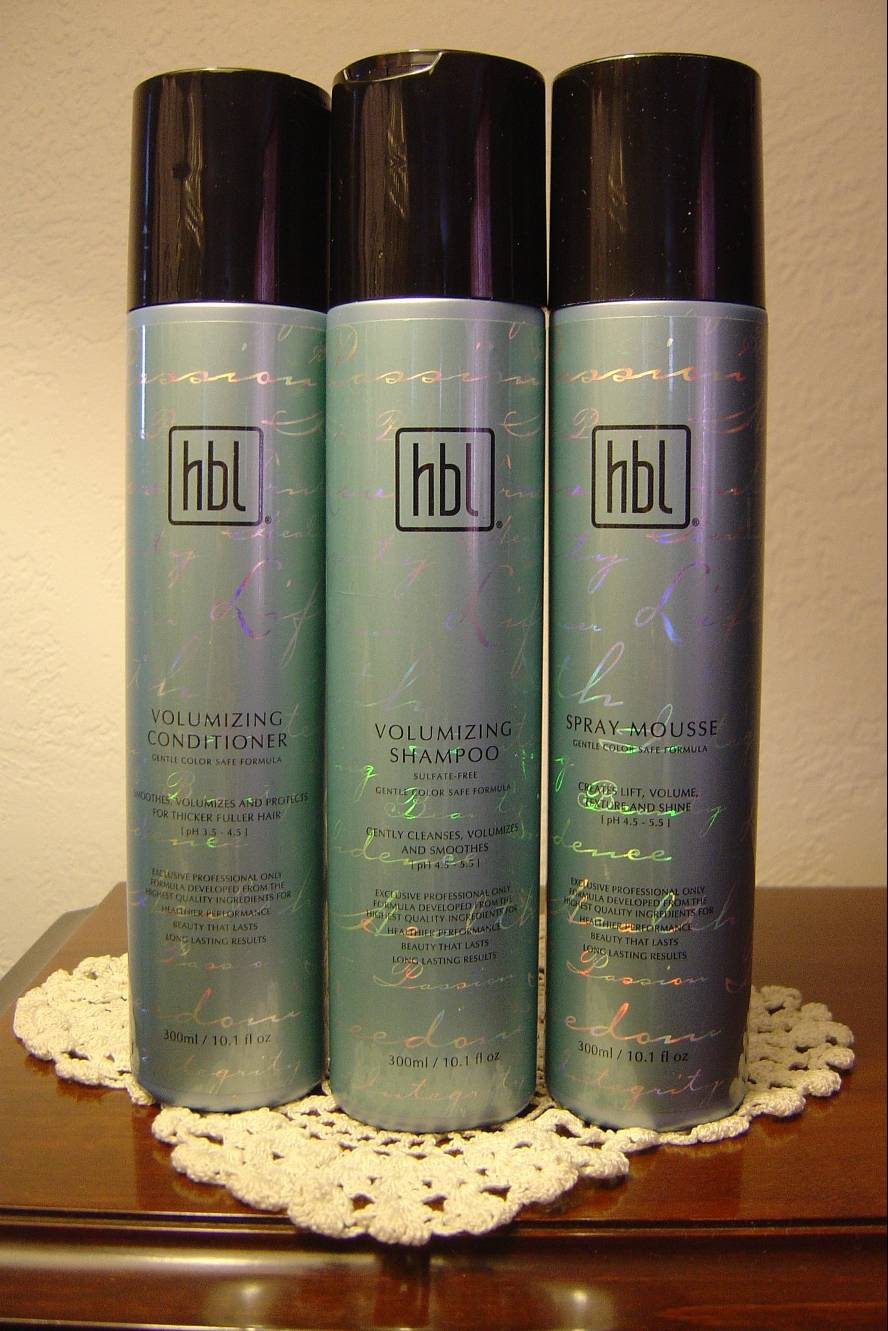 HBL Hair Care Volumizing Shampoo, Conditioner, and Spray Mousse