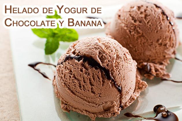 Helado de Yogur de chocolate y plátano