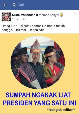 menghina Presden Jokowi