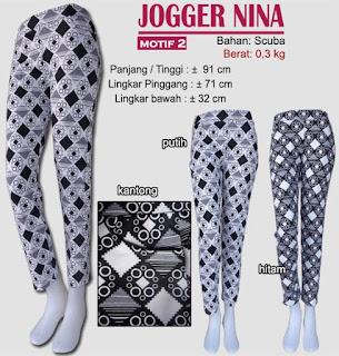 tampil trendy dengan celana jogger scuba panjang-nina 2
