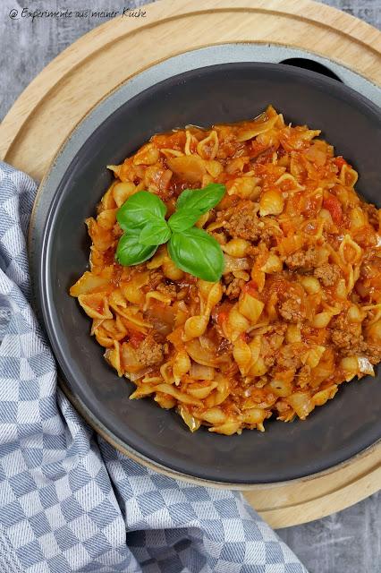 Weißkohl-Hackfleisch-Pasta | Kochen | Essen | Rezept | One Pot | Weight Watchers