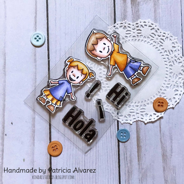 kids clear stamp with stamps in spanish
