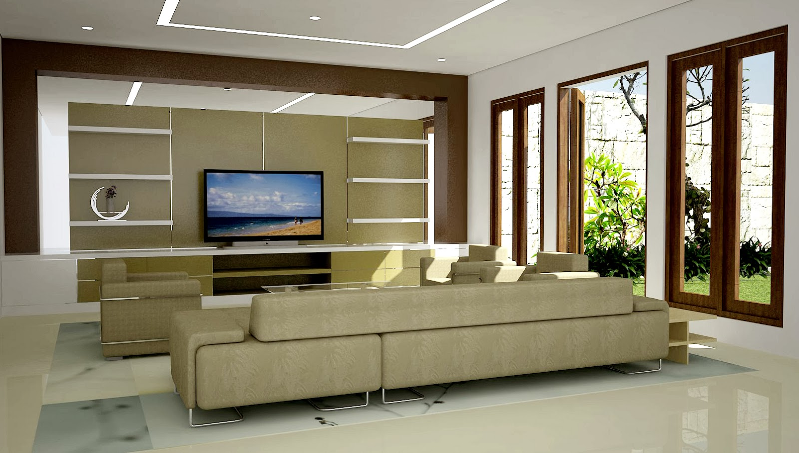 Desain Interior Ruang Keluarga Modern Desain Rumah