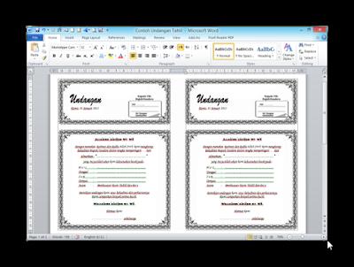 Download Cara Membuat Undangan Otomatis Dengan MS Word