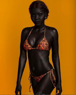 AFRICAN REAL BLACK SKIN [Meet The South Sudanese Model Nicknamed 'queen Of Dark'] 3