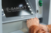 Tata cara bayar pajak kendaraan motor melalui mesin ATM, cara bayar pajak online, E-SAMSAT.