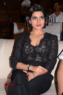 Actress Samantha Pictures in Black Dress at A Aa Success Meet 0010