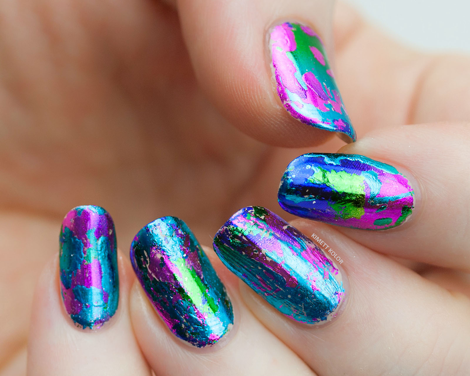 Kimett Kolor nail foil nail art base