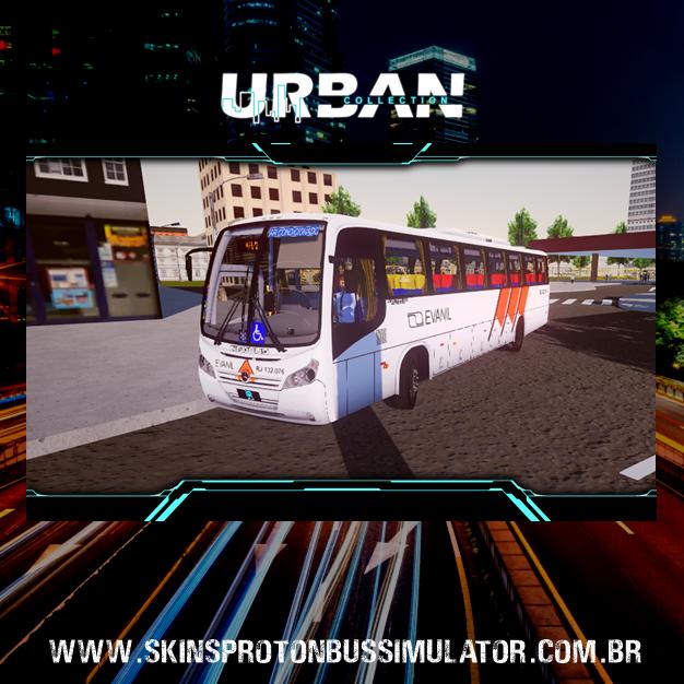 Skin Proton Bus Simulator - Neobus Spectrum Road 330 MB 4X2 OF-1722M Evanil Transportes e Turismo
