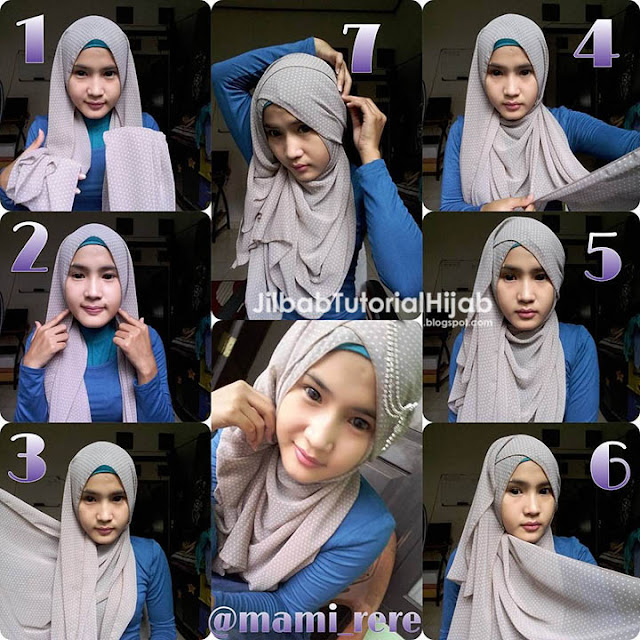Tutorial Hijab Pashmina untuk Pesta Wajah Bulat Terbaru