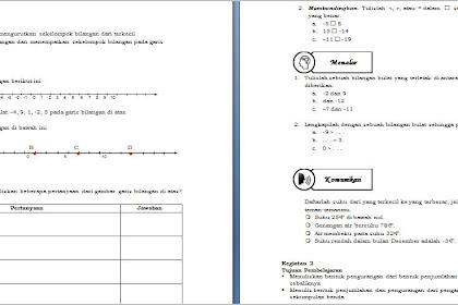 Lembar Kerja Siswa (LKS) Matematika Kelas VII K13