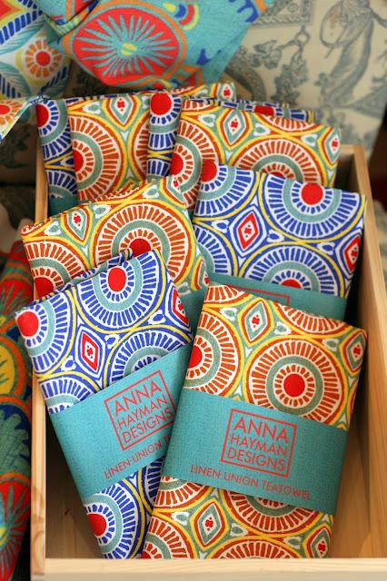 anna hayman printed bright teatowels