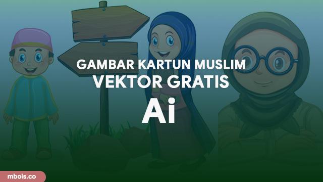 15 Gambar Kartun Muslim Laki Perempuan Vektor Gratis