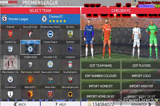 Download FTS Mod PES 2019 v11.0 HD New Transfers Apk Data Obb for Android