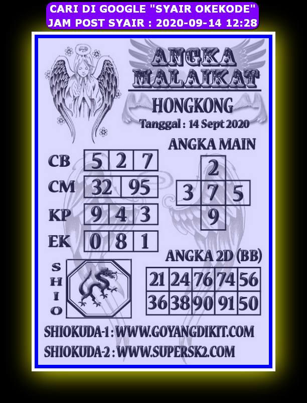 Kode syair Hongkong Senin 14 September 2020 290