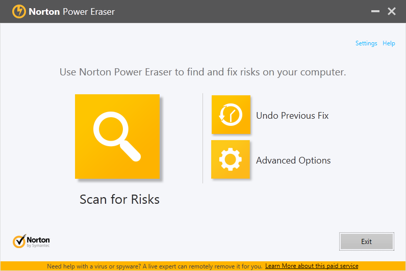 Norton Power Eraser-to remove pop-ups generating adware