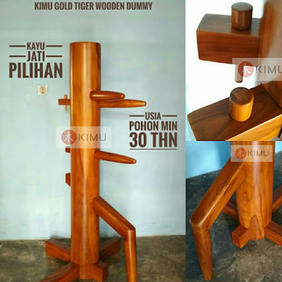 contoh wooden dummy / mok yan jong kayu jati - KIMU