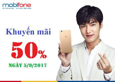 Khuyến mãi Mobifone ngày 5/9/2017
