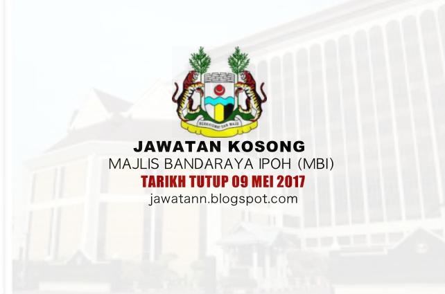 Jawatan Kosong Majlis Bandaraya Ipoh (MBI) 09 Mei 2017