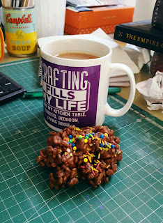 Whoopidooings: Cuppa and rice crispy cake