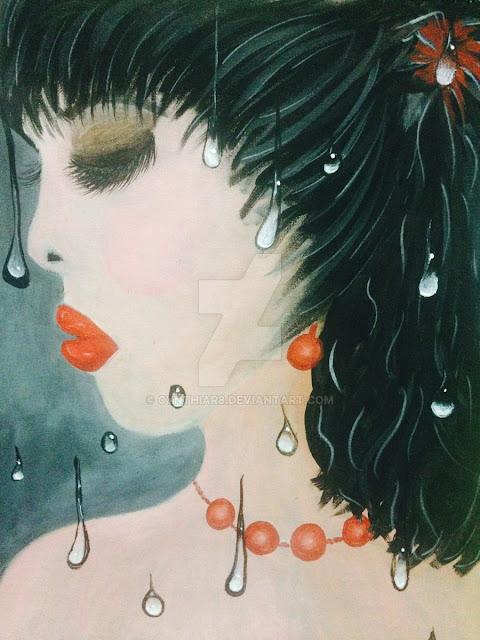 cynthiar-artedonypasion-costarica-sadgirl-crying-raininginmyheart-art-acrylicpaiinting