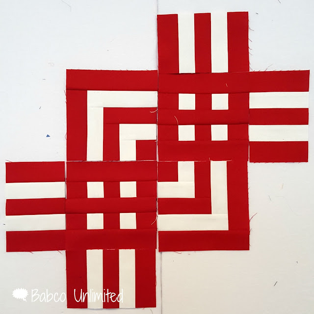 BabcoUnlimited.blogspot.com -- Red & White Quilt Sample, 2 color quilts, modern quilts