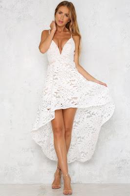 Vestidos estampados blancos