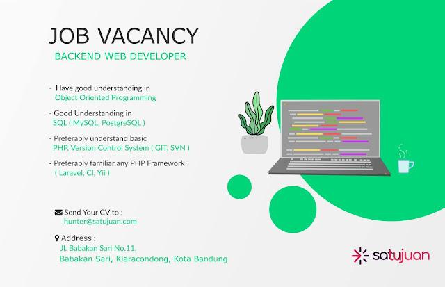 Lowongan Kerja Backend Web Developer
